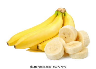 Banana isolated on the white background .