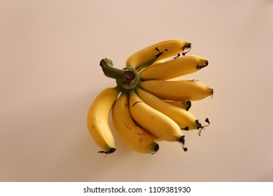 banana on the plain background