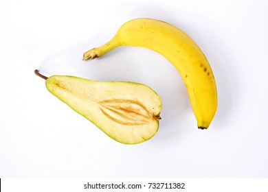banana and pear as symbol for sex