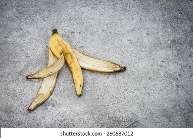 Banana peel on floor