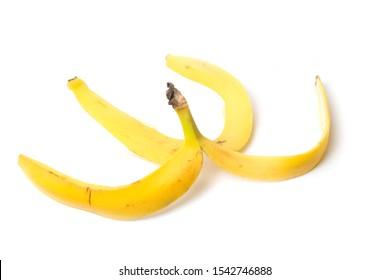Banana peel on isolate white background