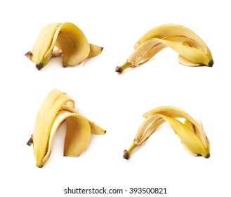 Banana peel skin isolated