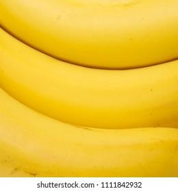 Banana row macro close up