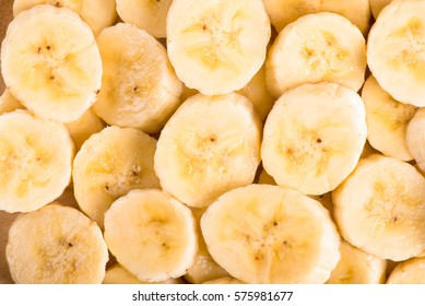 Banana slices background.