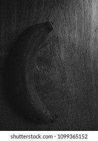 banana spoiled in black and white and high contrast concept