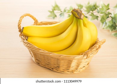 Bananas in the basket