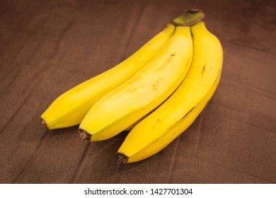 Bananas fully ripe and shot a dark background for contrast