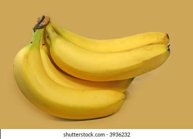bananas isolated on beige background