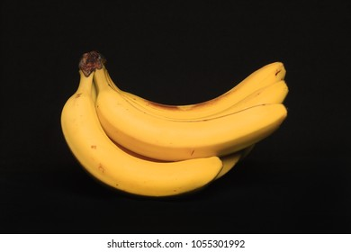 Bananas, isolated on a black background
