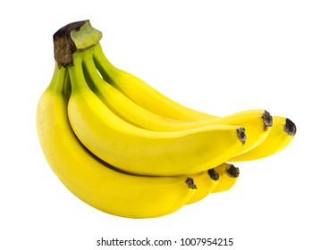 The bananas isolated on the white background