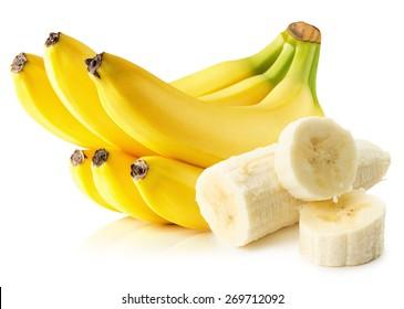 bananas isolated on the white background