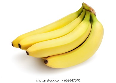 Bananas isolated on the white background, clipping path included.