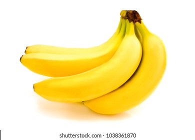 Bananas isolated on white. Bunch of bananas isolated on white background. Yellow bananas