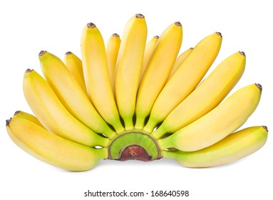 bananas isolated on white.Yellow ripe juicy fruits isolated on white background.still life of summer tropical fruits for a vegetarian Breakfast.