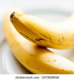 Bananas macro photo