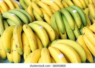bananas in market