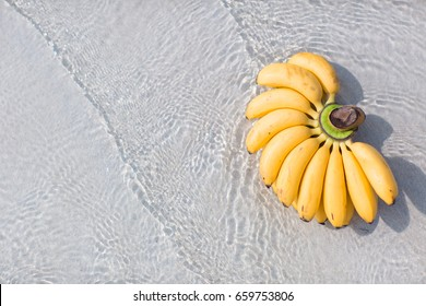 Bananas on the beach in water