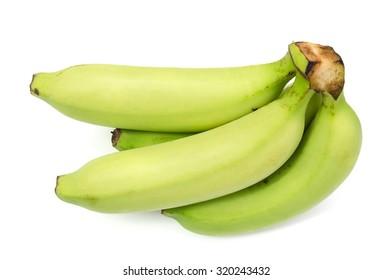 Bananas on white background.