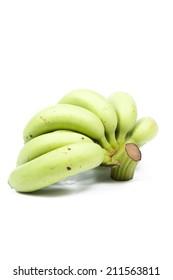 bananas on white isolated background.bananas fruit on white isolated background.