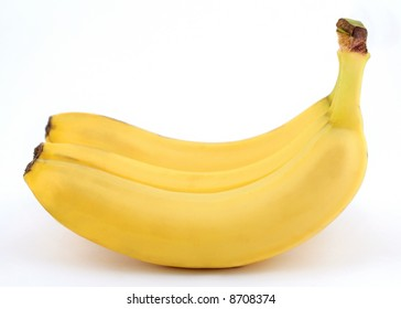 Bananas on wite background