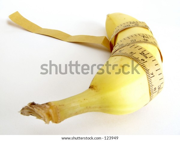 bananna with a tape measure