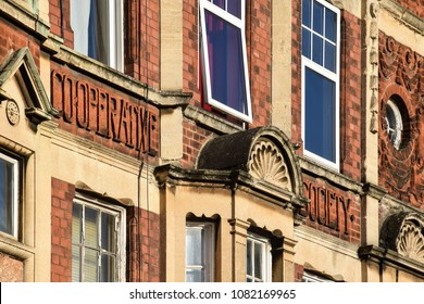 Banbury, England - November 29 2017:   Victorian former Co Op building in George St