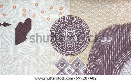 Banco De Mexico Symbol On 500 Stock Photo Edit Now 699287482