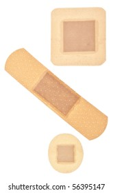 Band Aid Background Image Isolated on White with a Clipping Path.