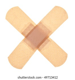 Band aid isolated on white with a clipping path.