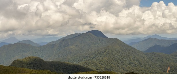 A band of cumulus clouds forming over the Cordillera del Condor on the border of Ecuador with Peru. This pristine mountain range is a site of exceptional plant and animal biodiversity.