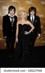 The Band Perry at the 44th Annual CMA Awards, Bridgestone Arena, Nashville, TN.  11-10-10