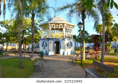 Band stand in the main square of Cidade de Goias Brazil on a peaceful afternoon