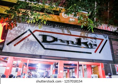 Banda Aceh, Indonesia - 26th February 2016: Famous Aceh Coffee Shop Dhapu Kupi at Night, Sanger Coffee (Aceh Traditional Cappucino)