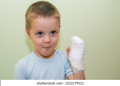 Bandaged arm of a child