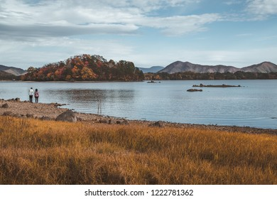 Bandai-Asahi National Park, a beautiful park that has green lake and autumn color changed forest.