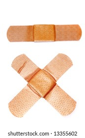Band-aids on white