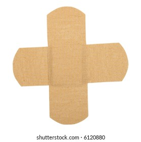 Bandaids thrown over each other (Includes clipping mask)