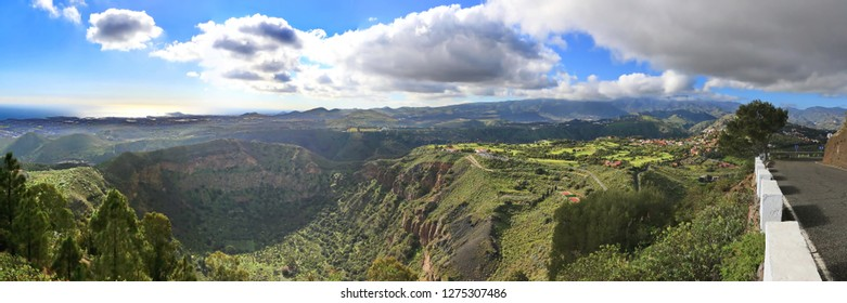 Bandama Crater is an extinct volcano on gran canaria