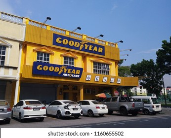 Bandar Perda, Pulau Pinang, Malaysia - 14th August, 2018: Goodyear Autocare branch outlet, shop of tire