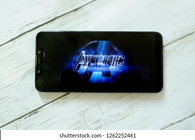 Bandar Seri Begawan,Brunei - December 19th,2018 : The newly released Avengers : Endgame trailer being played on youtube. The film based on the Marvel Comics superhero team the Avengers.
