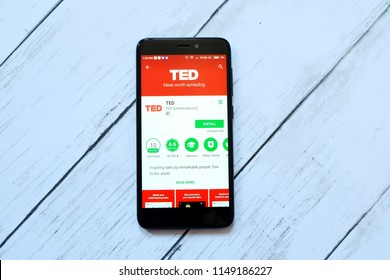 BANDAR SERI BEGAWAN,BRUNEI - JULY 25TH,2018 : TED application on an android Google Play Store.
