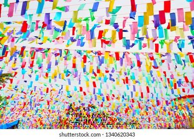 banderitas, festival in my town