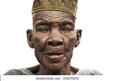 Bandiagara, Mali, Africa. August 27, 2011  Muslim tribal elder in bandiagara