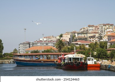 BANDIRMA, TURKEY - JULY 10: Ships at berth in the seaport Bandirma on July 10, 2014 in Bandirma.