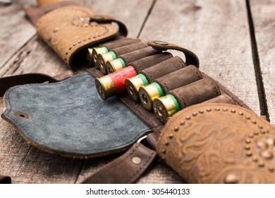 Bandoleer bag, hunting ammunition