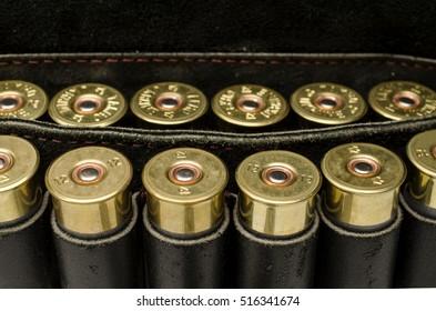 Bandolier of bullets, hunting equipment