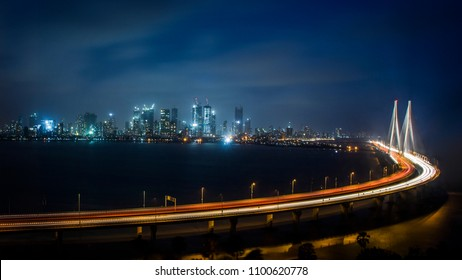 Bandra-Worli Sea Link Bridge, Mumbai, Maharashtra, India