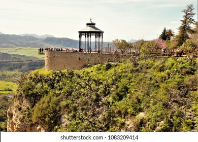 bandstand for the band in the mirador of the city of Ronda, Málaga, Andalucía, Spain,