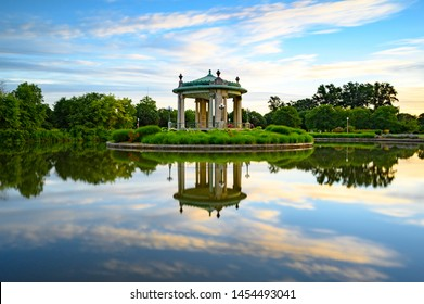 Bandstand at Forest Park in St Louis Missouri at Sunrise.