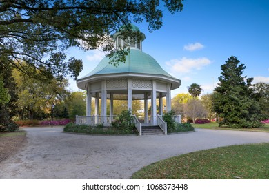 The bandstand at Hampton Park, a sixty acre public open space in peninsular Charleston, South Carolina.
